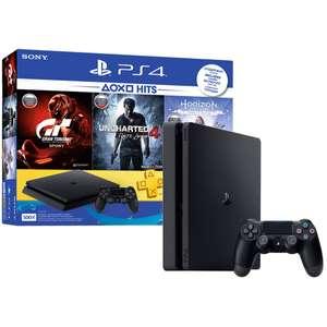 PS 4 Slim + Uncharted 4 + Horizon: Zero Dawn + Gran Turismo Sport + PS Plus 3 мес.