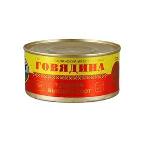 [Пятерочка] Йошкар-Олинская Тушенка говядина тушеная высший сорт, 325 г