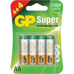 [Лента] Батарейки GP АА 8шт