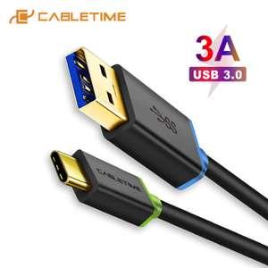 Кабель Type-C USB 3,0 1 метр 3а за 1.59$