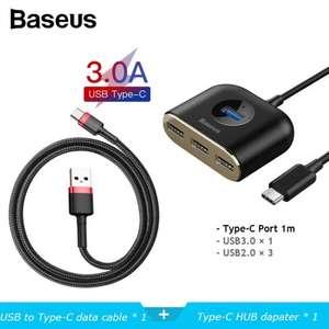 USB-хаб Baseus + кабель Baseus