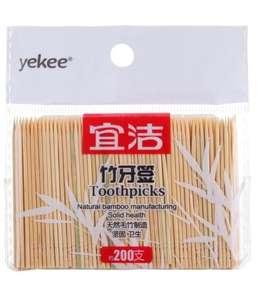 Зубочистки Yekee, 200 штук за 0.19$
