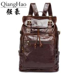 Кожаный рюкзак QiangHao