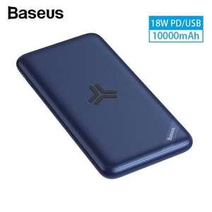 Baseus S10 Power Bank 10000mAh c с беспроводным интерфейсом за 22.69$