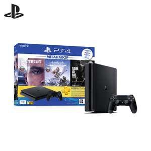 PS4 Slim (1TB) Бандл 3 игры + 3 месяца подписки