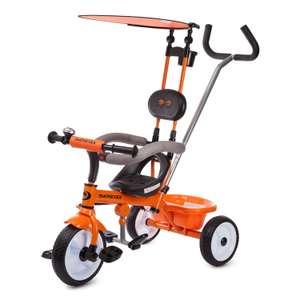 Детский велосипед Kreiss с тентом (оранжевый)