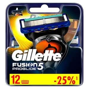 12 сменных лезвий для Gillette Fusion ProGlide