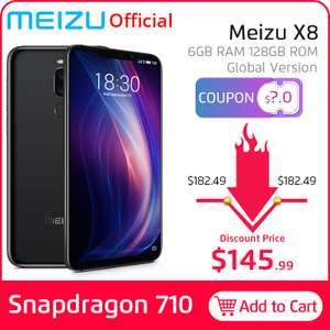 Meizu X8 6/128 GB Глобальная версия (с купоном али до 8 895₽)