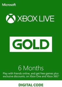 6 месяцев Xbox Live GOLD