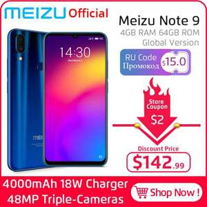 Meizu Note 9 4/64 Gb (Глобальная версия) за 142$