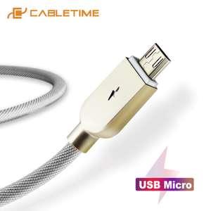 Кабель Micro USB Cabletime со светодиодным индикатором