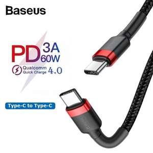 USB-кабель Baseus PD 3.0 60 Вт Type-C за 0.99$