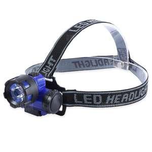 Водозащищенный налобный фонарь за $0.9