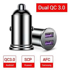 Зарядка в автомобиль 2хUSB QC3.0 36W за 2.70$