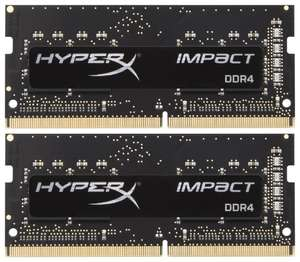 Оперативная память Kingston SO-DIMM DDR4 16Gb (2x8GB) 3200MHz pc-25600 HyperX Impact Black (HX432S20IB2K2/16)
