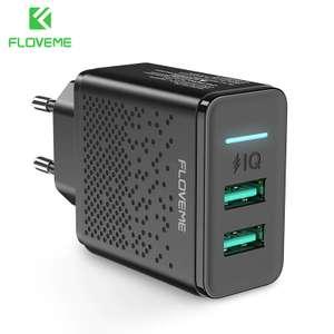 FLOVEME Dual USB ток: 5 В 2.4A
