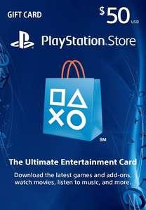 Предоплатная карта американского PlayStation Store $50 за 43 доллара