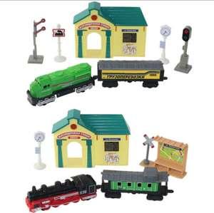 Набор Железнодорожная станция: поезда и аксессуары Wincars 30518