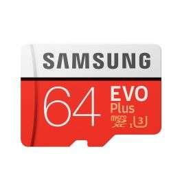 MicroSDXC 64GB Samsung EVO PLUS за $13.9