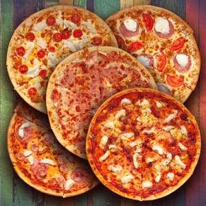 Два Берега. 5 пицц (напр. Факультет по 420 гр)