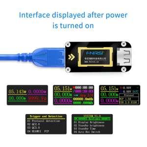 USB-тестер Fnirsi FNB28 с триггером протоколов зарядки - за 8$