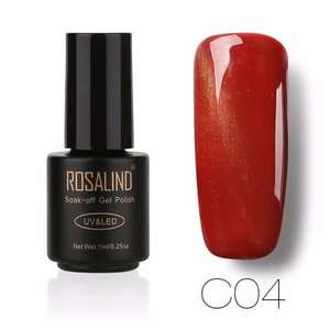 ROSALIND лак c пудрой Блеск Nail Art, разные цвета за 0,32 $