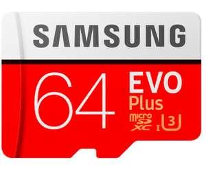 Samsung microSDXC Class 10 EVO+ V2 64GB карта памяти с адаптером