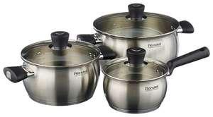 Набор посуды Rondell Dominant RDS-825 6 пр. стальной