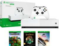 Комплект Xbox One S 1 ТБ + All Digital SOT, FH3, Minecraft, арт. NJP-00034