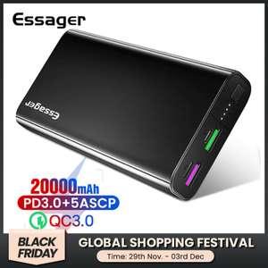 Power Bank: Essager 20000 mAh с QC 3.0