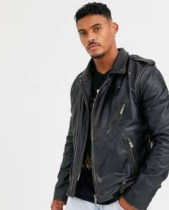 Кожаная байкерская куртка Bolongaro Trevor