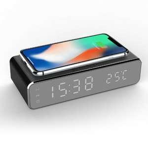 LED часы - термометр - беспроводная зарядка - будильник