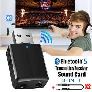 USB Bluetooth 5,0 передатчик приемник 3 в 1