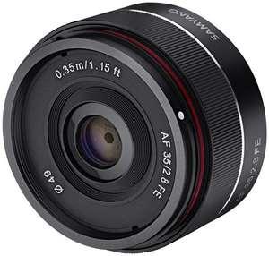 Объектив для полнокадровых Sony: Samyang AF 35mm F2.8