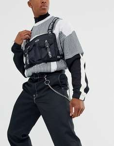 Черная сумка через плечо с лентой HXTN Supply Delta Prime