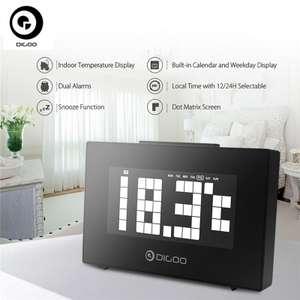 Часы с будильником, календарем и термометром Digoo DG-C9