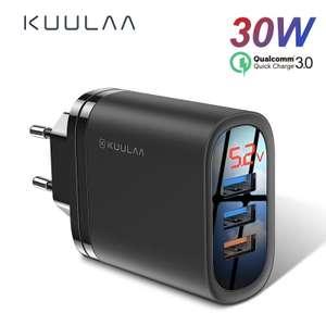 Зарядное устройство KUULAA Quick Charge 3,0 USB 30 Вт QC3.0 QC