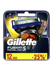 Gillette Fusion5 ProGlide Сменные кассеты 12 шт