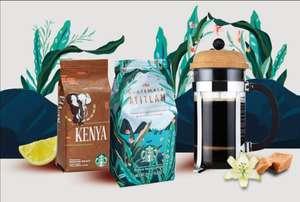Бесплатный фирменный кофе от Starbucks, при пополнении от 2000₽