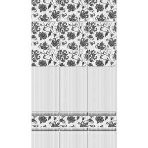 Панель ПВХ DFA Аламбра, 2700 х 250 х 8 мм, серая