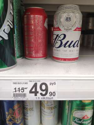 [Богородск] Bud 0.75
