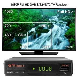 Спутниковый ресивер декодер GTMEDIA V7 plus DVB-S2 H.265 DVB-T2 за 39.99$