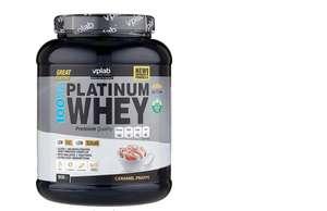 Протеин vplab 100% Platinum Whey (908 г) карамельный фраппе