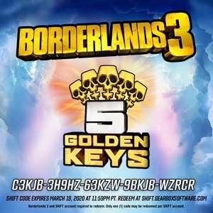 5 золотых ключей для Borderlands 3