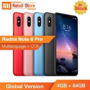 Xiaomi Redmi Note 6 Pro 4/64 от  166.9$ + наушники 18$ = 185.4$ общая цена в комлекте