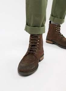 Кожаные ботинки на шнуровке Silver Street