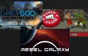 Бандл из 3 игр: Punch Club, Rebel Galaxy и Grey Goo всего  за 1,19$