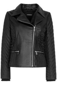 Утепленная кожаная куртка-косуха (размеры от 40 до 46)