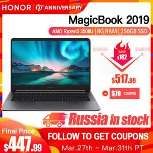 "HONOR MagicBook 2019 (14"" AMD Ryzen 5 3500U, 8G, 256 GB SSD, FHD IPS)"