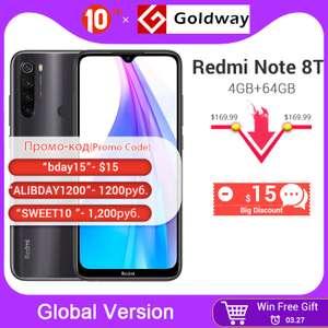 Redmi Note 8T 4GB 64GB в комплекте защитным стеклом